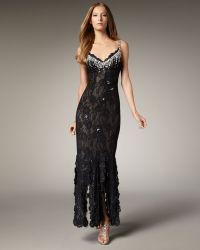 Julian Joyce By Mandalay Beaded Lace Gown - Lyst