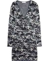 Matthew Williamson Space Abstract Knitted Sweater Dress - Lyst