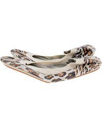 Yosi Samra Scaled Leopard Ballet Flats - Lyst