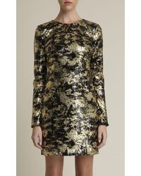 Adam Lippes Foiled Sequin Cocktail Dress - Lyst