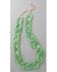 Kenneth Jay Lane Jade Link Necklace - Lyst