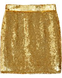 Ashish - Sequined Silk High-waisted Skirt - Lyst