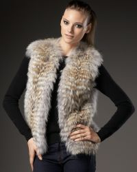 Sofia Cashmere - Feathered Coyote Vest - Lyst