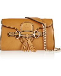 Gucci Emily Leather Shoulder Bag - Lyst