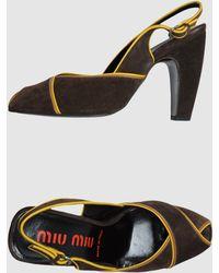 Miu Miu High-heeled Sandals - Lyst