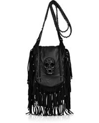 Thomas Wylde Demonic Suede and Leather Shoulder Bag - Lyst