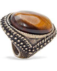 Mango Ornate Metal Ring - Lyst