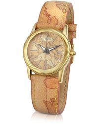 Alviero Martini 1A Classe - 1a Prima Classe - Ladies Geo Dial and Strap Gold Plated Watch - Lyst
