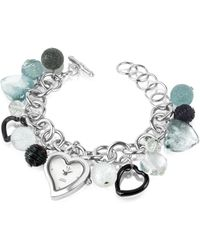 Antica Murrina | Stardust - Murano Glass Heart Charm Bracelet Watch | Lyst