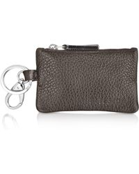 A.Testoni - Caribou Leather Pouch Key Ring - Lyst