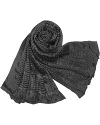 Basile - Pleated Satin Evening Stole - Lyst