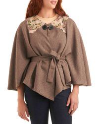 ModCloth - Tweed Out The Competition Cape - Lyst