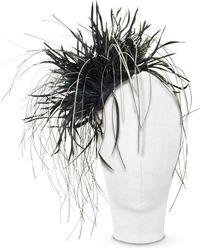 Nana' Alicia - Black Feather Headdress black - Lyst