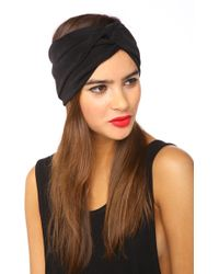 Nasty Gal Pitch Black Turband - Lyst