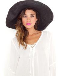 Nasty Gal Hamptons Straw Hat - Lyst