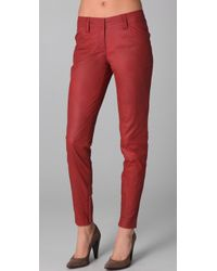Robert Rodriguez Cropped Skinny Leather Pants - Lyst