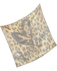 Roberto Cavalli | Leopard Print Silk Square Scarf | Lyst