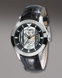 Emporio Armani Meccanico Automatic Watch, Black - Lyst