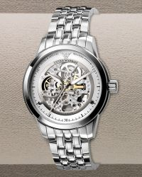Emporio Armani Automatic Skeleton Bracelet Watch - Lyst