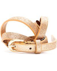 Mango Slim Waist Belt gold - Lyst