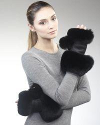 Marc Jacobs - Sheared Fox Gloves - Lyst