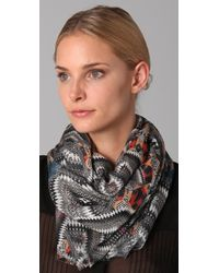 Matthew Williamson Fan Print Scarf - Lyst