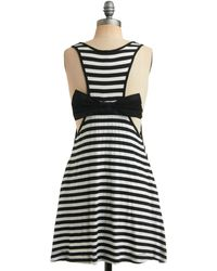 ModCloth Striking Stripes Dress - Lyst