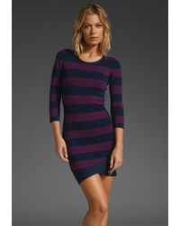 BCBGMAXAZRIA Stripe Dress - Lyst