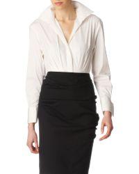 Donna Karan New York French Cuff Bodysuit - Lyst