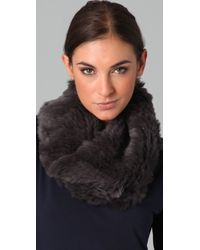 Vince - Twisted Fur Infinity Scarf - Lyst