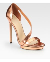 B Brian Atwood Strappy Sandals - Lyst