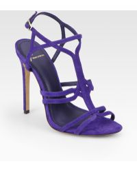 B Brian Atwood - Lorrina Suede High Heel Sandals - Lyst