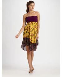 Jean Paul Gaultier Patchwork Strapless Coverup - Lyst