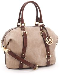 MICHAEL Michael Kors Medium Bedford Satchel, Hemp/mocha - Lyst