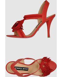 Frankie Morello High Heeled Sandals - Lyst