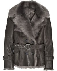 Karl Donoghue - Shearling-lined Leather Coat - Lyst