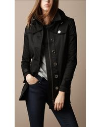 Burberry Brit - Hooded Rain Coat - Lyst