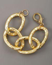 Devon Leigh - Gold Link Bracelet - Lyst
