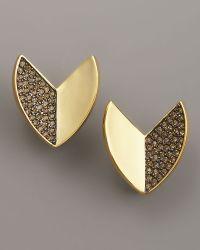 Giles & Brother - Nara Pave Quartz Stud Earrings - Lyst
