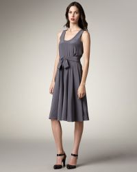 Marc By Marc Jacobs Belted Silk Dress - Lyst