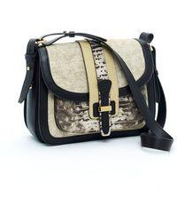 Michael Kors Saddle Bag, Ecru - Lyst