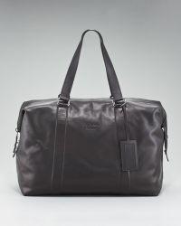 Prada Soft Leather Duffel Bag - Lyst