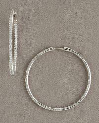 Roberto Coin Diamond Hoop Earrings, 1 1/2 - Lyst