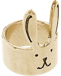 ASOS Collection Asos Gold Bunny Ears Ring - Lyst