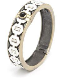 Gerard Yosca - Preorder Metal Diamond Enamel Hinge Bracelet - Lyst