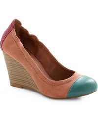 ModCloth Miss Mesa Verde Wedge pink - Lyst
