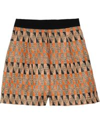 Giambattista Valli Patterned Woven Shorts - Lyst