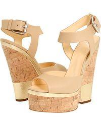 Giuseppe Zanotti Leather and Cork Platform Sandals - Lyst