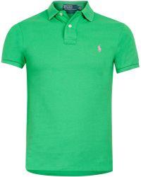 Polo Ralph Lauren Green Polo Shirt - Lyst