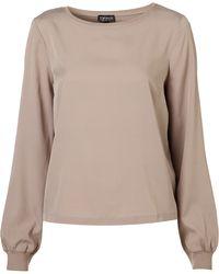 Topshop Woven Sweatshirt - Lyst